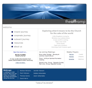 The Offramp Splash Page